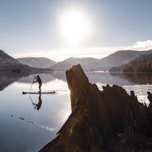 Paddle boarding on Lake Ullswater